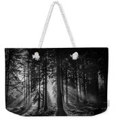 Woodland Walks Silver Rays B/w Weekender Tote Bag
