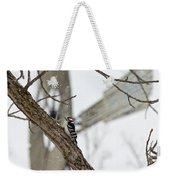 Woodpecker And Windmill Weekender Tote Bag