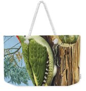 Woodpecker Weekender Tote Bag by RB Davis