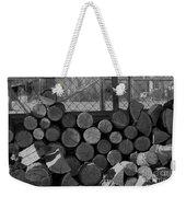 Woodpile Weekender Tote Bag
