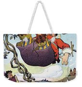Woodrow Wilson Cartoon Weekender Tote Bag