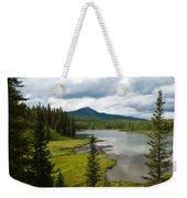 Wood's Lake Summer Landscape Weekender Tote Bag