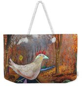 Woods Road 2 - Autumn Weekender Tote Bag