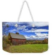 Woodstock Vermont Old Red Barn In Autunm Weekender Tote Bag