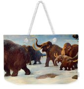 Wooly Mammoths Near The Somme River Weekender Tote Bag