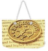 Word Art Of Sagittarius Weekender Tote Bag