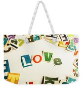 Word Of Love Weekender Tote Bag