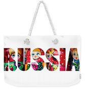Word Russia Over Traditional Arts Weekender Tote Bag