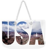 Word Usa Grand Canyon National Park, Arizona  Weekender Tote Bag