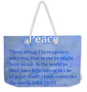 Words Of Peace Weekender Tote Bag