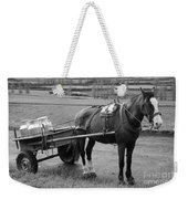 Work Horse And Cart Weekender Tote Bag