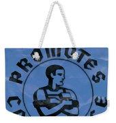 Work Promotes Confidence Blue Weekender Tote Bag
