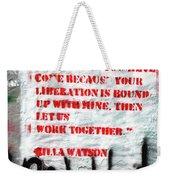 Work Together Weekender Tote Bag