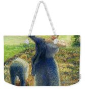 Workers In The Fields 1896-97 Camille Pissarro Weekender Tote Bag