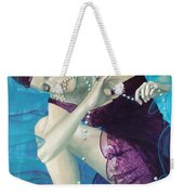 Working On A Dream - Loose Pearls Weekender Tote Bag by Dorina  Costras