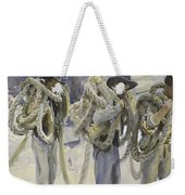 Workmen At Carrara Weekender Tote Bag