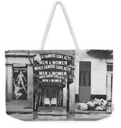 World Famous Love Acts French Quarter New Orleans Louisiana 1976-2012 Weekender Tote Bag