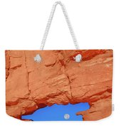 World-famous Pikes Peak Framed By What We Call The Keyhole  Weekender Tote Bag