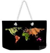 World Fruits Vegetables Map Weekender Tote Bag