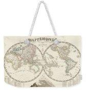 World Map - 1842 Weekender Tote Bag