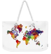 World Map 8 Watercolor Print  Weekender Tote Bag
