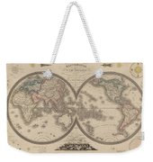 World Map Divided Into Two Hemispheres Weekender Tote Bag