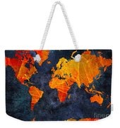 World Map - Elegance Of The Sun - Fractal - Abstract - Digital Art 2 Weekender Tote Bag by Andee Design