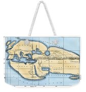 World Map: Eratosthenes Weekender Tote Bag