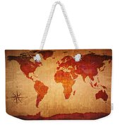 World Map Grunge Style Weekender Tote Bag