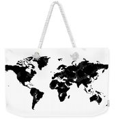 World Map In Black And White Weekender Tote Bag