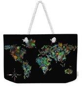 World Map Mandala Feathers 2 Weekender Tote Bag