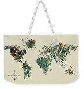 World Map Mandala Feathers 3 Weekender Tote Bag
