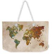 World Map Oriental Weekender Tote Bag
