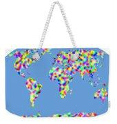 World Map Palette Weekender Tote Bag
