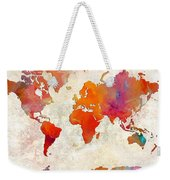 World Map - Rainbow Passion - Abstract - Digital Painting 2 Weekender Tote Bag