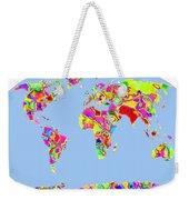 World Map Viscous Weekender Tote Bag