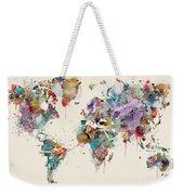 World Map Watercolors Weekender Tote Bag