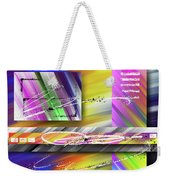 World Of Color And Superimposed Rectangles Weekender Tote Bag