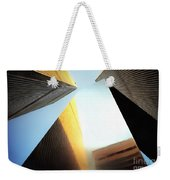 World Trade Center Towers And The Ideogram 1971-2001 Weekender Tote Bag