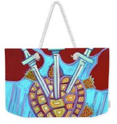 World Turtle Three Of Swords Weekender Tote Bag