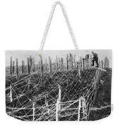 World War I Barbed Wire Weekender Tote Bag
