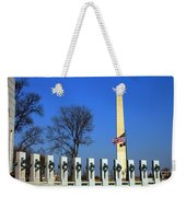 World War II Memorial And Washington Monument Weekender Tote Bag
