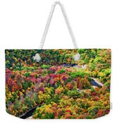 Worlds End State Park Lookout 3 - Paint Weekender Tote Bag