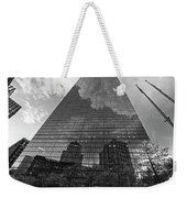 World's Largest Canvas John Hancock Tower Boston Ma Black And White Weekender Tote Bag