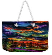 World's Most Psychedelic Autumn Sunsset Weekender Tote Bag