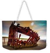 Worn Rusting Shipwreck Weekender Tote Bag