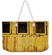 Worn Yellow Passanger Car Weekender Tote Bag