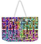 Woven Abstract Weekender Tote Bag