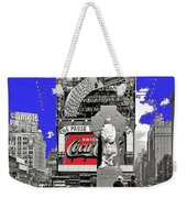 Wrapped  Fr. Duffy Statue Times Square New York Peter Sekaer Photo 1937 Color Added 2014 Weekender Tote Bag