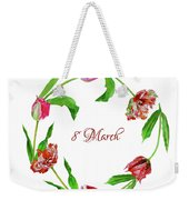 Wreath With Tulips Weekender Tote Bag
